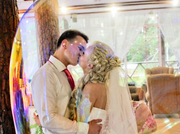 Заказать шоу мыльных пузырей на свадьбу