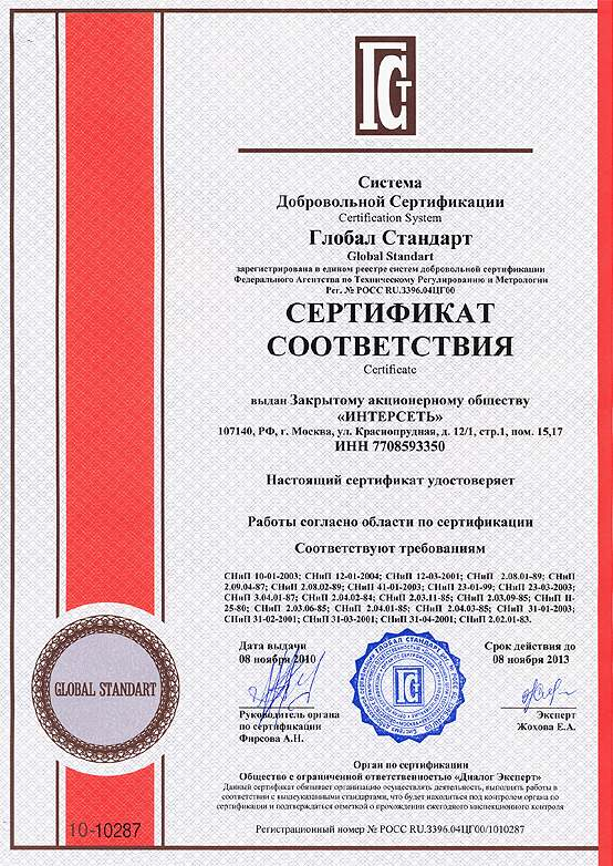 Order The organizations of examination and certification on compliance to standards