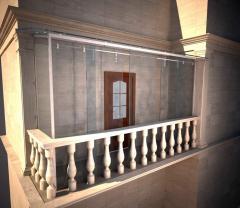 Glazing of balconies