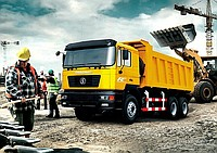 Transportation of goods by SHANSIMAN dump trucks