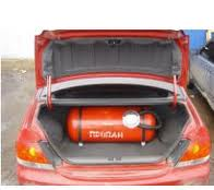 Installation of the gas cylinder equipment, in