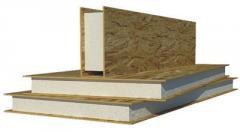 Production sandwich of panels
