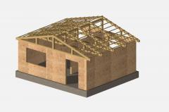 Construction derevyanno frame, sborno panel board