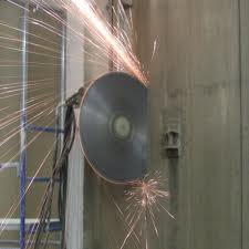 Cutting diamond reinforced concrete