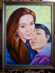 I paint portrait on a ph