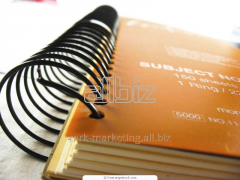 Production of advertizing notebooks