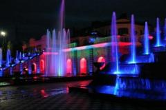 Installation of illumination of fountains