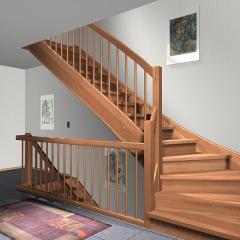 Поставка  деревянных лестниц