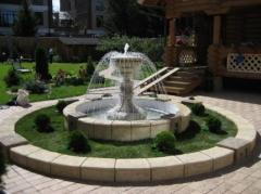 Строительство фонтанов в Астане