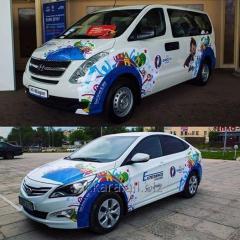 Branding of cars in Shymkent, Shymken