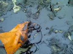 Отходы песка и грунта, загрязненного мазутом,