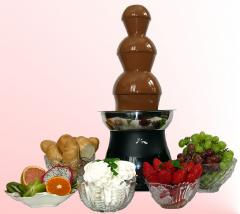 Chocolate fountain, Installation of chocolate