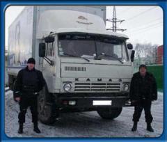Услуги по охране грузов, обеспечение безопасности