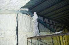 We put napylyaemy thermal insulation (PPU) in