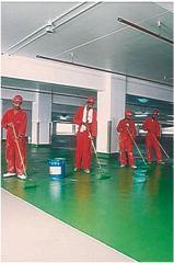 Installation of liquid industrial flooring