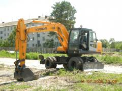 Rent of excavators loaders