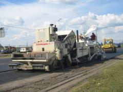 Rent of an asphalt spreader, special equipmen