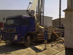 Rent of the Volvo-2 concrete pump