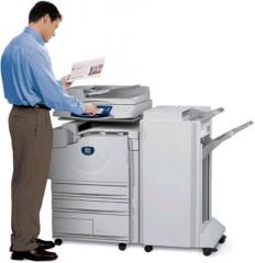 Services of the copier