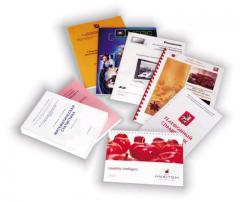 Production of books, brochures, textbooks of