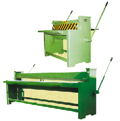 Services of a listogib and guillotine