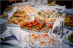 Exit buffet reception