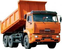 Services of the dump truck
