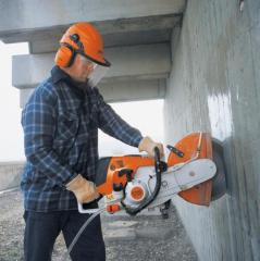 Diamond drilling of openings and cutting of