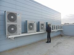Installation of central airs and drainage of air