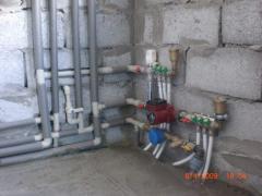 Installation of the sanitary equipmen