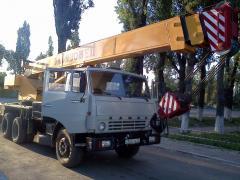 Услуги автокрана 25 тонн. Алматы и область