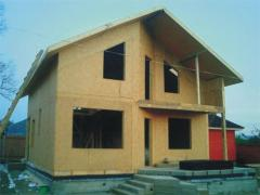 Construction of quickly built houses on the