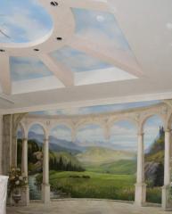 Художественная роспись стен в Алматы.