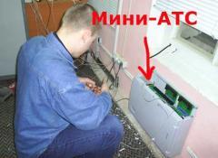 Установка мини АТС