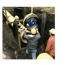 Installation of the gas pipeline