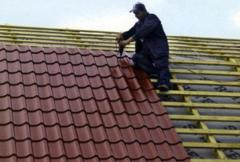 Installation repair of a roof of a roof roofing