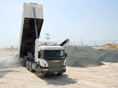 Delivery of crushed stone, sand, PGS, etc. bulks