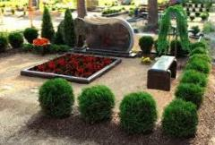 Services of care of graves on cemeteries