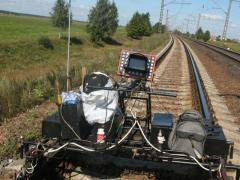 Defectoscopy of a railway track