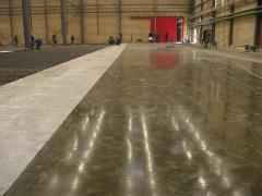 Installation of bulk industrial floors