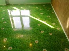 Installation of bulk polymeric floors for
