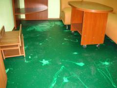Installation of bulk decorative floors