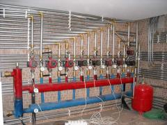 Installation of systems of heating