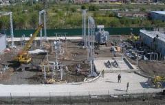 Installation of power transformer substations