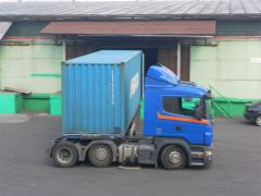 Container carriers and transportation of