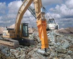 Rent of excavators with hydrohammers