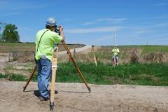Land surveying of the land plots