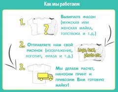 Печать на футболках, майках, водолазках,