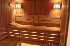 Finishing of a bath and sauna, on a turn-key