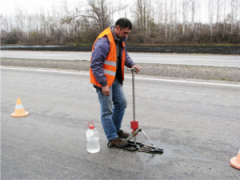 Diagnostics of highways in Kostanay, Kazakhstan
